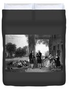 Washington And Lafayette, Mount Vernon Duvet Cover