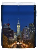 Washington Monument And City Hall Duvet Cover