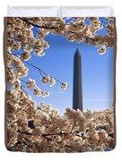 Washington Monument Cherry Trees Duvet Cover