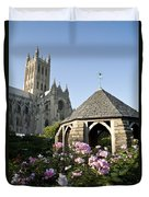 Washington National Cathedral And Stone Duvet Cover