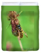 Wasp On Plant Duvet Cover