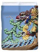 Wat Chaimongkol Pagoda Dragon Finial Dthb787 Duvet Cover