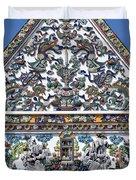 Wat Ratcha Orasaram Ubosot Gable Detail Dthb428 Duvet Cover