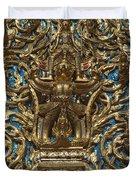 Wat Saket Ubosot Gable Dthb035 Duvet Cover