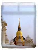 Wat Suan Dok Royal Cemetery  Duvet Cover