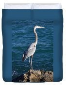 Watching For Fish Duvet Cover