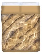 Water And Sand Ripples Duvet Cover