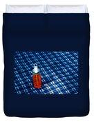 Water Bottle On A Blanket Duvet Cover