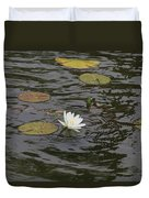 Water Circles On The Lily Pond Duvet Cover