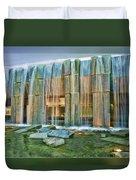 Water Fall Building Duvet Cover