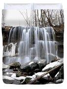Water Falls At Rock Glen Duvet Cover
