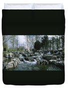 Water Flowing In A Garden, St. Fiachras Duvet Cover