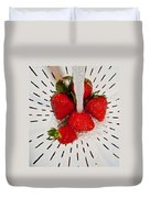 Water For Strawberries Duvet Cover