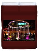 Water Fountain With Circle Seven Shape Duvet Cover