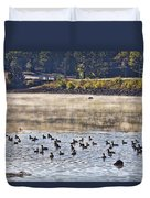 Water Fowl At Lake Wilhelmina Arkansas Duvet Cover
