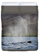 Water From A Whale Blowhole II Duvet Cover
