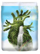 Water From The Heart Duvet Cover