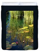 Water Lilies Reflection Duvet Cover