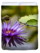 Water Lily Kissing The Water Duvet Cover