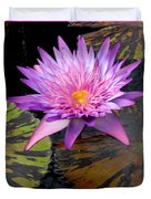 Water Lily Magic Duvet Cover