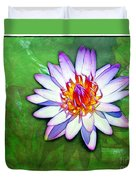 Water Lily Study Duvet Cover