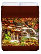 Water Over The Rocks Duvet Cover