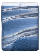 Water Patterns Of Boat Wake Duvet Cover