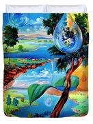 Water Planet Duvet Cover