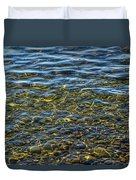 Water Ripples And Reflections On Lake Huron Duvet Cover