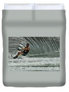 Water Skiing Magic Of Water 3 Duvet Cover by Bob Christopher