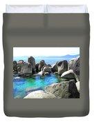Water Stonehenge Lake Tahoe Duvet Cover