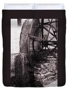 Water Wheel Old Mill Cherokee North Carolina  Duvet Cover by Susanne Van Hulst