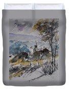 Watercolor Lesterny Duvet Cover