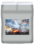 Watercolor Sunrise Duvet Cover