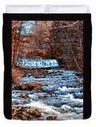 Waterfall Along A Mountain Stream Duvet Cover