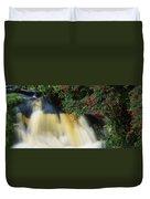 Waterfall And Fuschia, Ireland Duvet Cover