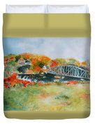 Waterfall At Old Paper Mill In Saugerties Duvet Cover