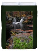 Waterfall Childs State Park Duvet Cover