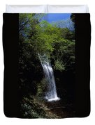 Waterfall In A Forest, Glencar Duvet Cover