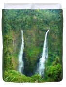 waterfall in Laos Duvet Cover