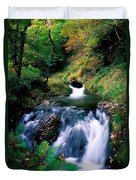 Waterfall In The Woods, Ireland Duvet Cover