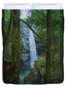 Waterfall In The Woods Duvet Cover