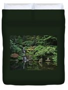 Waterfall - Portland Japanese Garden - Oregon Duvet Cover