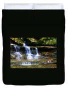 Waterfall Trio At Mcconnells Mill State Park Duvet Cover