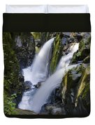 Waterfalls Of Sol Duc River, Olympic Duvet Cover