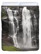 Waterfalls Over A Cliff Norway Duvet Cover