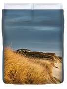 Waterfront Beach Cottage Duvet Cover