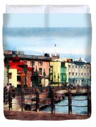 Waterfront Bridgetown Barbados Duvet Cover