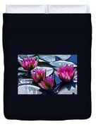 Waterlilies In Bright Sunlight Duvet Cover