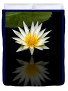 Waterlily And Reflection Duvet Cover